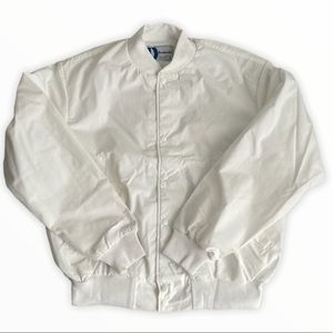 Vintage 70's Dunbrooke White Out Bomber Jacket L